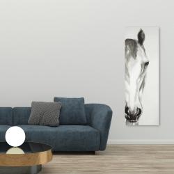Canvas 20 x 60 - Black & white horse face