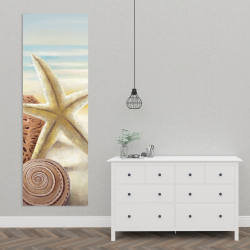 Canvas 20 x 60 - Starfish and seashells at the beach