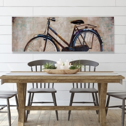 Canvas 20 x 60 - Industrial bicycle