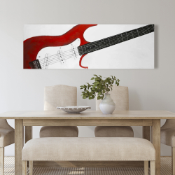 Canvas 20 x 60 - Red rock guitar
