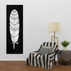 Canvas 20 x 60 - Native american feather