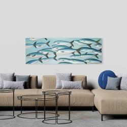 Canvas 20 x 60 - Small fish of caesio caerulaurea
