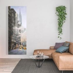 Canvas 20 x 60 - Morning in the streets of new-york city