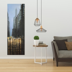 Canvas 20 x 60 - Evening in the streets of new-york city