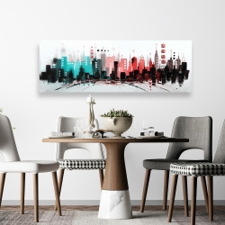 Canvas 20 x 60 - Cityscape with rose gold colors