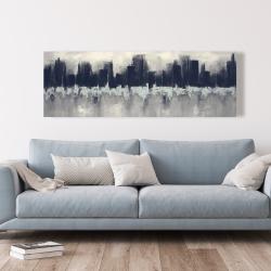 Canvas 20 x 60 - City by sponge technique