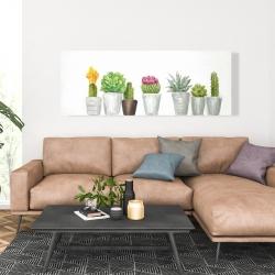 Canvas 20 x 60 - Mini cactus and succulents
