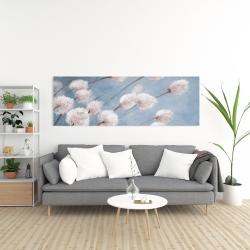 Canvas 20 x 60 - Delicate cotton flowers