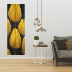 Canvas 20 x 60 - Six daffodils flowers