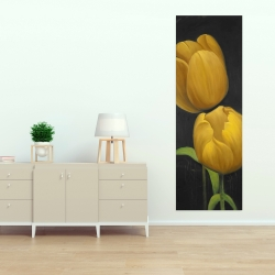Canvas 20 x 60 - Two daffodils flowers