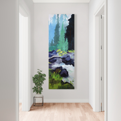 Canvas 20 x 60 - Beautiful waterfall