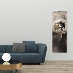 Canvas 20 x 60 - Abstract buffalo