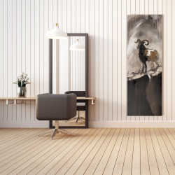 Toile 20 x 60 - Fier bélier abstrait