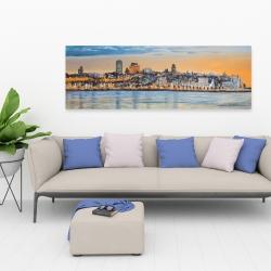 Canvas 20 x 60 - Skyline of quebec city