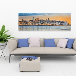 Canvas 20 x 60 - Skyline of quebec city
