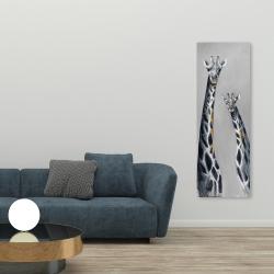 Canvas 20 x 60 - Steel blue giraffe