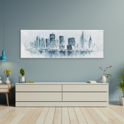 Canvas 20 x 60 - City in blue colors