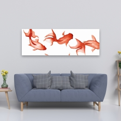 Canvas 20 x 60 - Small red fishes