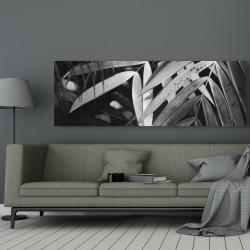 Canvas 20 x 60 - Monochrome tropicals leaves