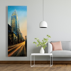 Canvas 20 x 60 - In the street of empire state building