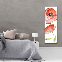 Canvas 20 x 60 - Watercolor poppies