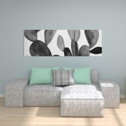 Canvas 20 x 60 - Grayscale cactus