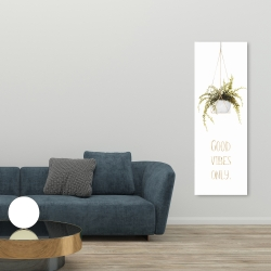 Canvas 20 x 60 - Good vibes only