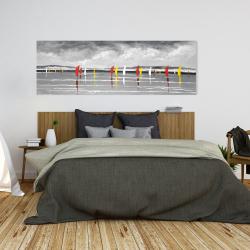 Canvas 20 x 60 - Sailboats on the lake