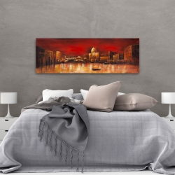 Canvas 20 x 60 - City by red dawn