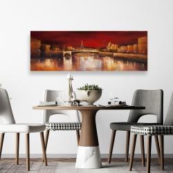 Canvas 20 x 60 - Paris by red dawn