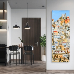 Canvas 20 x 60 - Small houses in greece