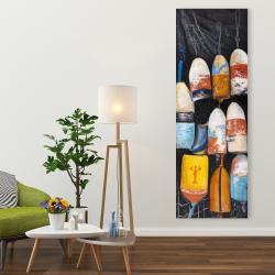 Canvas 20 x 60 - Vintage lobster buoys