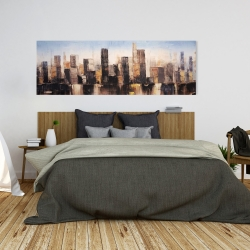 Canvas 20 x 60 - Striped abstract buildings