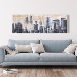 Canvas 20 x 60 - Immeubles au travers des nuages
