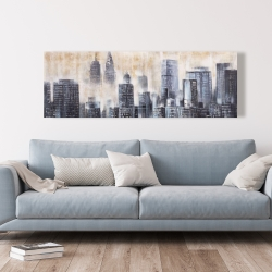 Canvas 20 x 60 - Buildings through the clouds