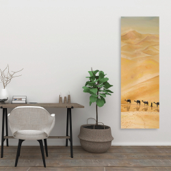 Canvas 20 x 60 - Walking in the desert