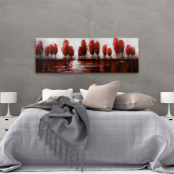 Canvas 20 x 60 - Red trees