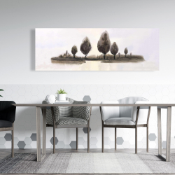 Canvas 20 x 60 - Abstract landscape of trees
