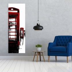 Canvas 20 x 60 - Telephone box and big ben of london