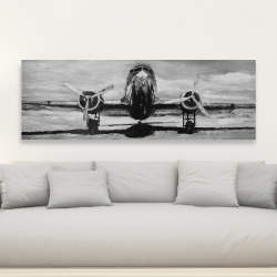 Canvas 20 x 60 - Grayscale plane