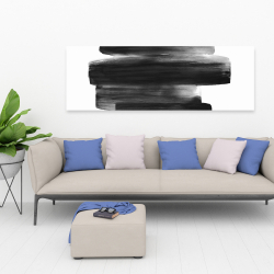 Canvas 20 x 60 - Watercolor abstract stripes