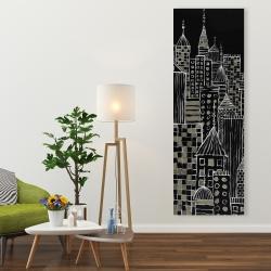 Canvas 20 x 60 - Illustrative city towers