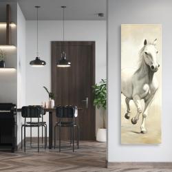 Canvas 20 x 60 - Gallant white horse