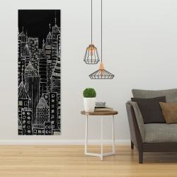 Canvas 20 x 60 - Illustrative city towers