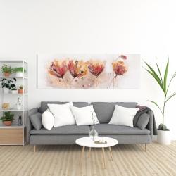 Canvas 20 x 60 - Four little flowers