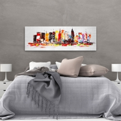 Canvas 20 x 60 - City in bright colors