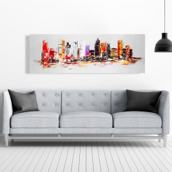Canvas 20 x 60 - Abstract city in bright colors