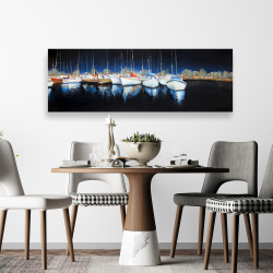 Canvas 20 x 60 - Evening at the marina