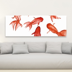 Canvas 20 x 60 - Red fishes