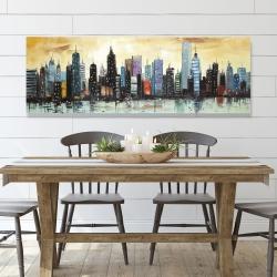 Canvas 20 x 60 - Skyline on abstract cityscape